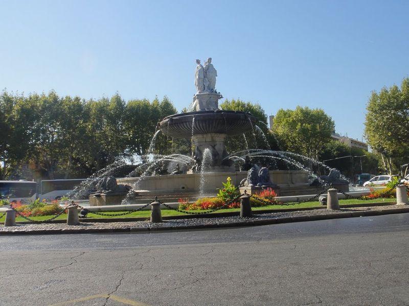 Aix big fountain